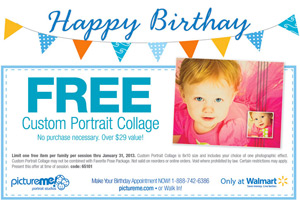 Picture Me Birthday Freebie