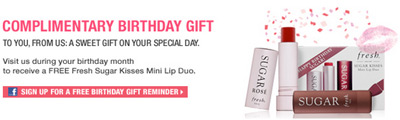 Free birthday stuff 155 retail restaurant birthday freebies for sephora free birthday gift negle Image collections