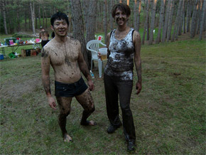 muddy couple