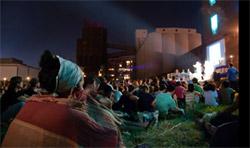 people attending festival